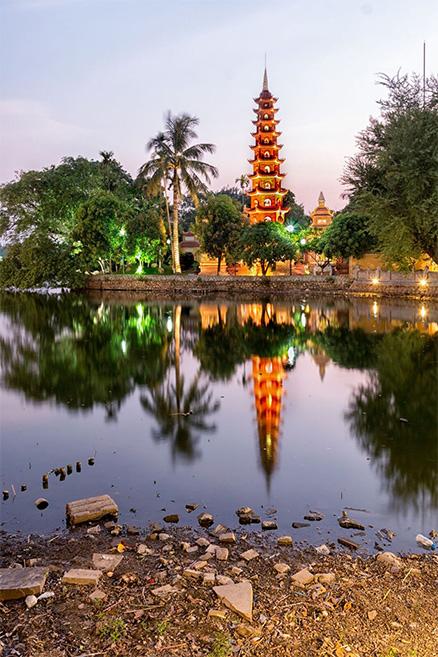Lake at dusk: Hanoi is hyper-endemic risk for Japanese encephalitis