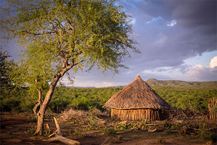 Soft ticks bites are a risk from sitting in traditional, soil-floored huts in Africa